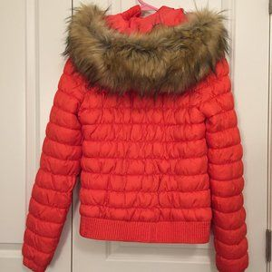 Merrell Puffer Jacket with Faux Fur-Lined Hood